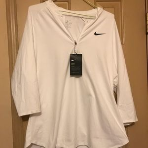 Nike Dri-fit all white work out top